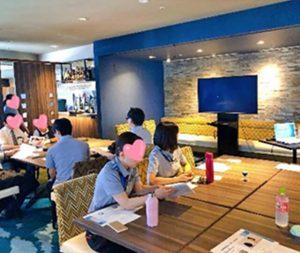 富⼭エクセル東急ホテル従業員の接客の笑顔研修